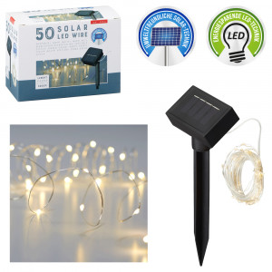 50 LED Solar-Lichterkette