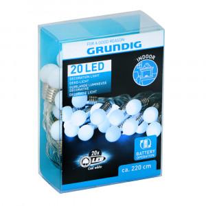Grundig 20 LED Lichterkette kaltweiß