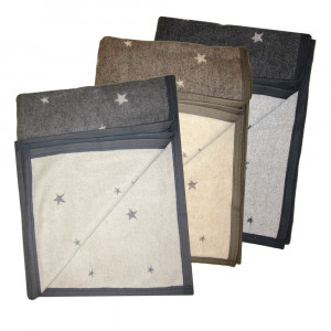 Kuscheldecke Sterne, 150x200cm
