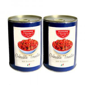 Gehackte Tomaten mit Kräutern, 2x400g