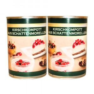 Kirschkompott aus Schattenmorellen, 2x430g