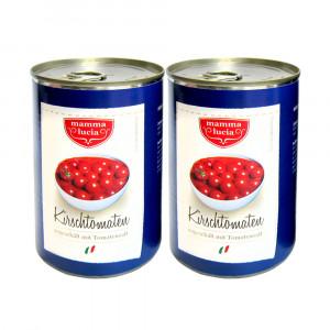 Kirschtomaten ungeschält mit Tomatensaft, 2x400g