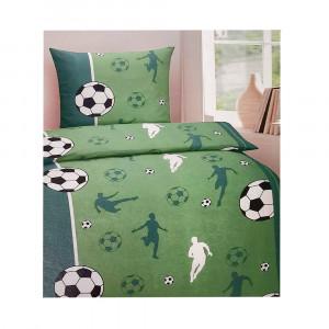 Bettwäsche 135×200/80x80cm, Fußball