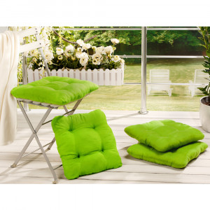Sitzkissen, 40x40x8cm, 4er Set, grün