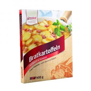 Bratkartoffeln mit Speck & Zwiebeln, 400g